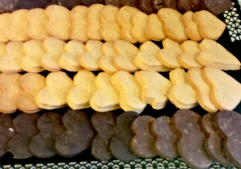 Biscuiti Frollini alb si negru