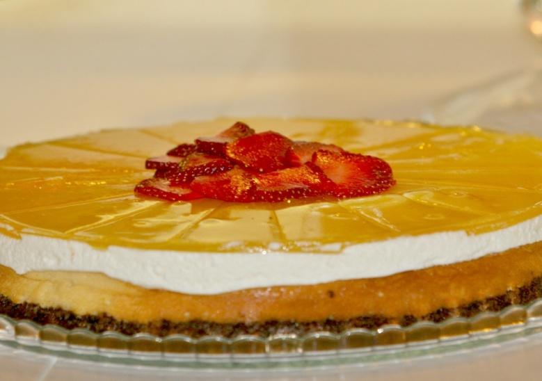 Cheese cake cu fructul pasiunii